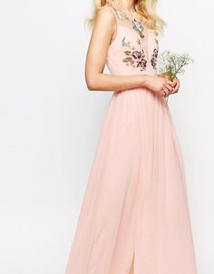6c4826eddb33 Chi Chi Petite   Chi-Chi London Petite Floral Bust Maxi Dress With Thigh  Split