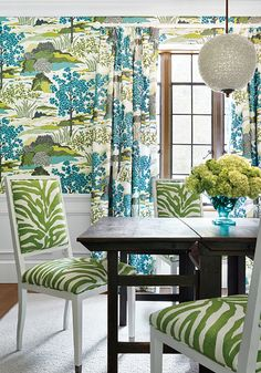 Daintree wallpaper and fabric from Thibaut