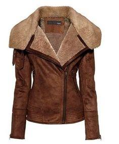 Aviator sheepskin jacket