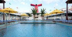 Splish and splash the day away in one of the FABULOUS pools on the Carnival Miracle, one of the Carnival Ships that cruises to Hawaii!!!