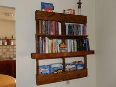 Pallet Bookshelf #Bookshelf, #Furniture, #Pallet