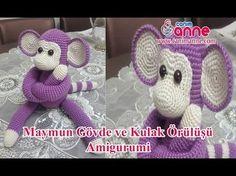 Amigurumi Maymun Gövde ve Kulak Örülüşü , Canım Anne - YouTube