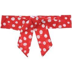 Blugirl Folies Belt (£18) ❤ liked on Polyvore featuring accessories, belts, red, blugirl folies, red belt, wide red belt, polka dot belt and red polka dot belt