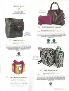 2015 Fall-Winter Collection Hostess Exclusives! Exciting time to be hosting a party!!! http://www.mythirtyone.com/kristibruening