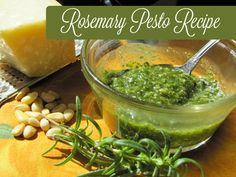 Rosemary Pesto Recipe I love rosemary pesto because rosemary is an herb that you can get fresh all year long. I harvest fresh rosemary from my large rosemary hedge every week of the entire year. http://livingawareness.com/rosemary-pesto-recipe/