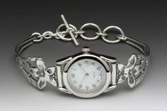 Silver Spoon Jewelry ® : Vintage Spoon and Fork Demitasse Jewelry: Jasmine Spoon Watch