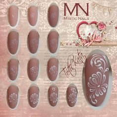 Gelpaint nailart step by step Hard Nails, Thin Nails, Mystic Nails, Uñas Diy, Vintage Nails, Broken Nails, Nail Patterns, Nail Art Diy, Flower Nails