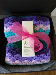 A baby shower gift...home made crocheted baby blanket with Arbonne's ABC baby sunblock...what a cute twist on the traditional baby shower gift...a gift from the heart and a gift from nature. Arbonne delivers pure, safe and beneficial products for for both baby and you!