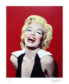 Marilyn ( Red ) by terry pastor