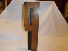 Letterpress Antique Wood Type EXTRA Large Letter P Measures 12 Inch Tall