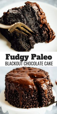 Blackout healthy paleo chocolate cake made with sweet potatoes. Best gluten free chocolate cake- made with sweet potato and avocados! An easy paleo birthday or celebration cake that is moist and delicious. Best paleo chocolate cake #paleo #chocolate #cake #dessert #healthy