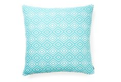 Diamonds 20x20 Outdoor Pillow, Teal on OneKingsLane.com