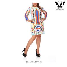 White Mark Universal Plus Size Printed Dress - Assorted Colors at 52% Savings off Retail!