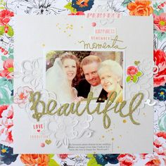 Beautiful Scrapbook Page by Kim Jeffress for 17turtles Digital Cut Files