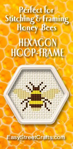 Hexagon Hoop holds cloth nice & tight for stitching.  And it also makes a perfect frame.  Design is from www.rucniprace.cz