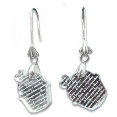 I Love Cupcakes Mirror Silver Charm Earrings