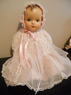 """Madame Alexander  21""""  Baby  Genius Doll with Crier Box - Composition, Excellent"""