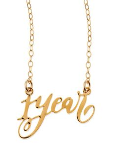 1-Year Anniversary Calligraphy Necklace by Brevity at Neiman Marcus.