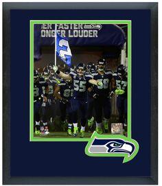 Heath Farwell 2013 Seattle Seahawks -11 x 14 Team Logo Matted/Framed Photo