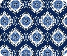 """""""Blue storm"""" fabric from Marcus Brothers"""