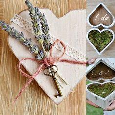 Porta alianzas boda alternativo Caja de madera por handANAhada