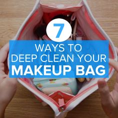 How To Deep Clean Your Makeup Bag #cleaning #simple #hack #makeup
