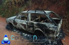 Automóvel foi incendiado no final de semana em campos Gerais -MG