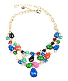 Take+a+look+at+the+Blue+&+Green+Hampton+Fantasy+Bib+Necklace+on+#zulily+today!