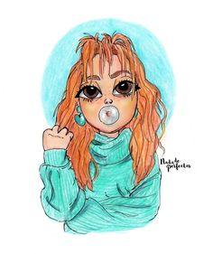 ES PRECIOSOO!!!!! Cartoon People, Girl Cartoon, Disney Drawings, Cute Drawings, Emily Mena, Drawing Prompt, Best Friends Forever, Pictures To Draw, Art Sketches