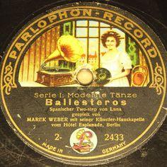 "MAREK WEBER with Orch.  Ballesteros & Mariposa  PARLOPHON-RECORD #78rpm 12"" #Schellackplatte"
