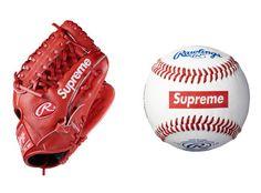 Supreme,Baseball Glove and Ball