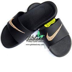 summer mens fashion which looks great ! Glitter Flip Flops, Bling Flip Flops, Nike Flip Flops, Wedding Flip Flops, Best Sandals For Men, Custom Flip Flops, Nike Sandals, Nike Slides, Baby Bling