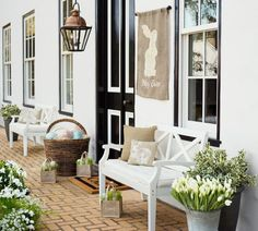 pottery barn easter porch.jpg - Just my type of easy project but visually satisying