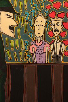 Título: Ciúmes - Pintura em Acrílico sobre Tela 70x50cm Preço: R$300,00