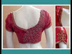 How to make Stone lace Patches to create Designer Blouse at home - DIY Patch Work Blouse Designs, Simple Blouse Designs, Blouse Back Neck Designs, Fancy Blouse Designs, Floral Designs, Wedding Saree Blouse Designs, Silk Saree Blouse Designs, Wedding Blouses, Stone Work Blouse