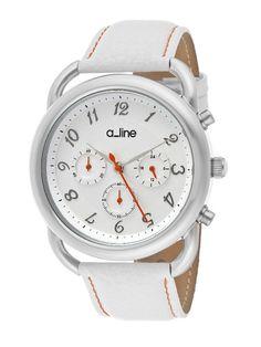 Women's Maya White Leather Watch