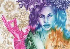 """Let it shoot across the sky""  #beyoncé #QueenBey #Fanart #sketch #drawing #art #colors   #hymnfortheweekend #coldplay"