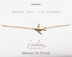 Beyond Fear Lies Freedom Gold Plated Bracelet Luxe Collection