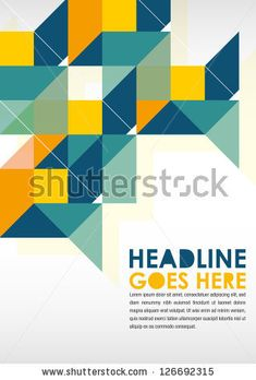 Print/Poster Design Template. Layout Design/Background by Gajah, via ShutterStock