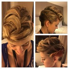 Stylist Stephanie Knutson created this cool braided mohawk using #Kenra Volume Spray 25 and #KenraPlatinum Texturizing Taffy 13!