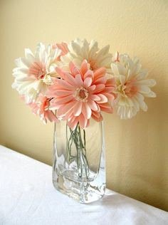 Good-looking paper flowers - Silk or paper flowers are not out of the question…always look good and are low maintenance.