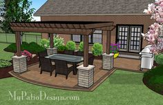 A Patio Designed with Shade | Patio Designs and Ideas