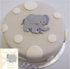 Elephant Baby Shower The cake was made to match the invitation. I hope you like it. Elephant Baby Shower Cake, Elephant Cakes, Baby Elephant, Baby Shower Cakes, Baby Boy Shower, Elephant Party, Elephant Theme, Pretty Cakes, Cute Cakes