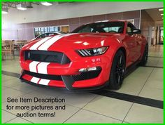 Car brand auctioned: Ford Mustang New 16 Ford Shelby GT350 5.2L Vodoo V8 32V Manual Coupe Premium Race Red Black