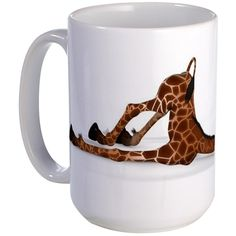 Cute Giraffe With A Funny Face - Lovely Large Mug - Coffee Mug, Large 15 oz. White Coffee Cup by CafePress