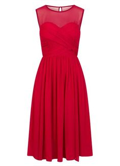 RED CROSS FRONT OCCASION DRESS