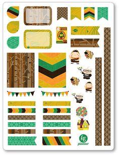 Wilderness Explorer Decorating Kit / Weekly Spread Planner Stickers for Erin Condren Planner, Filofax, Plum Paper