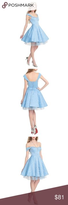 Disney Cinderella Ball Gown Hot Topic Dress I bought this to wear to Disney World and ending up not bringing it so its never been worn. :) brand new with tags. Hot Topic Dresses