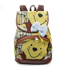 winnie the pool bookbag  | Winnie The Pooh Cartoon Canvas Student Backpack