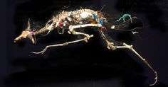 PPC Artist Ally Alvaro Soler Arpa creates sculptures of contemporary  dinosaurs made from various animal bones that encase the stuff we throw  away. The exhibit opens 1 February at the Barcelona Metro, and 15 February  at the Barcelona Airport.